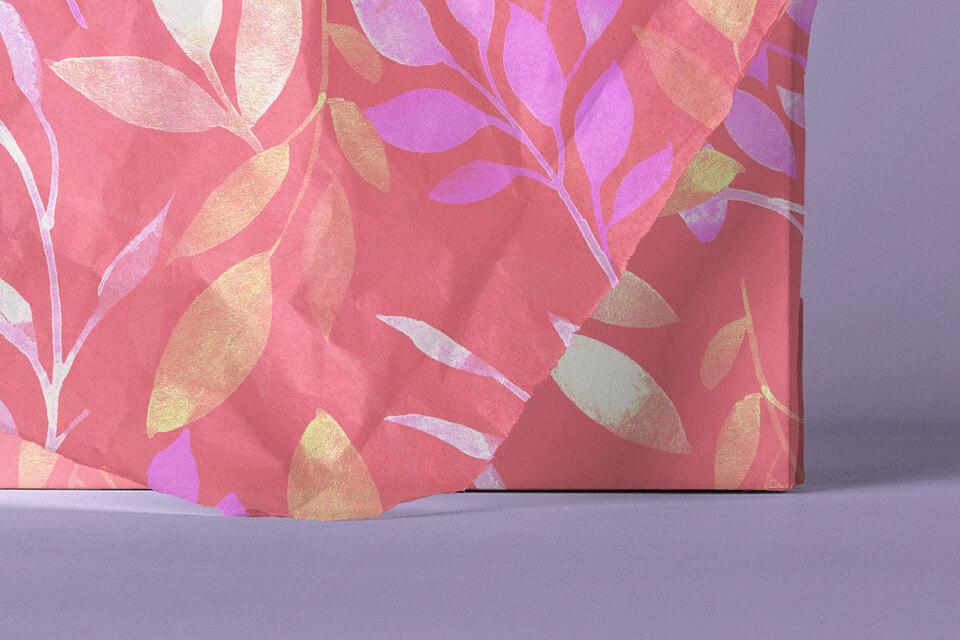 Free Beautiful Square Invitation Card Paper Wrap Mockup PSD Template3