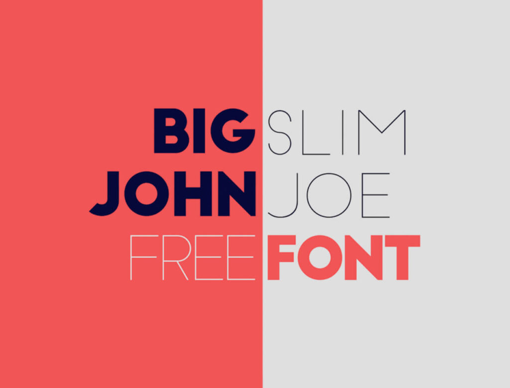 Free Big John & Slim Joe Fonts