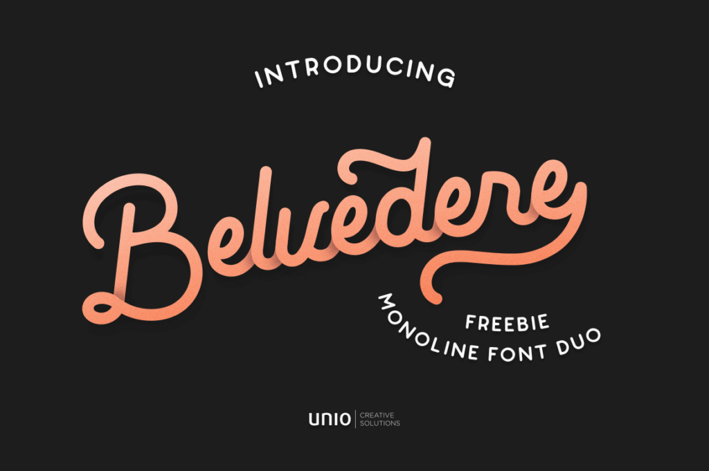 Free Blackish Belvedere Font Duo Demo