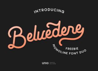Free Blackish Belvedere Font Duo Demo