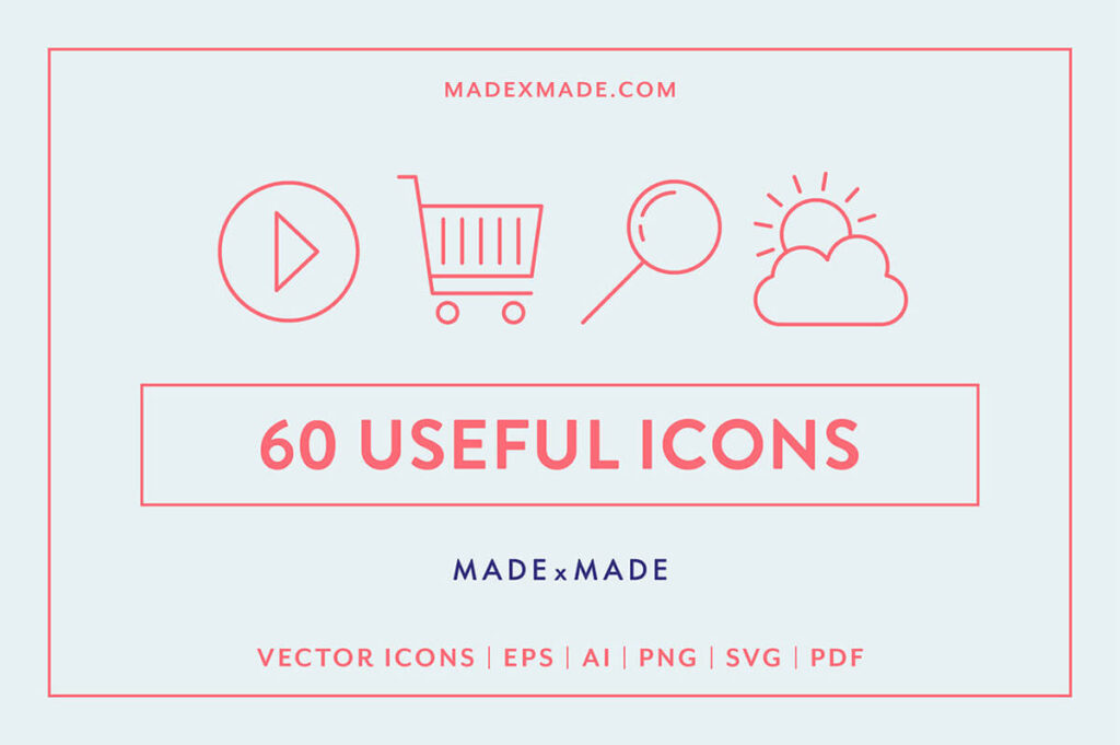 Free Brilliant Collection 60+ Essential Vector Icons