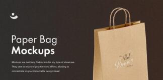 Free Brown Paper Bag Mockup Set PSD Template