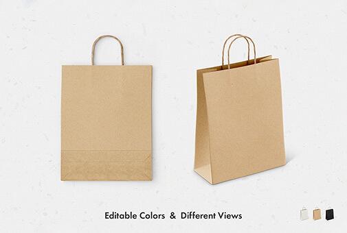 Free Brown Paper Bag Mockup Set PSD Template1