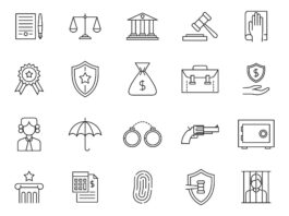 Free Civil 20+ Law Vector Icons