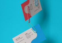 Free Clipped Business Card Mockup PSD Template