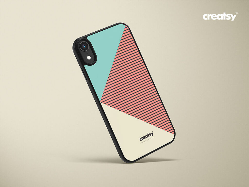 Free Colorful IPhone XR Case Mockups PSD Templates