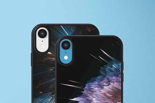 Free Colorful IPhone XR Case Mockups PSD Templates3