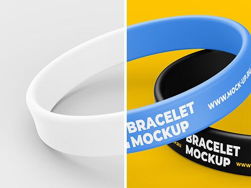 Free Colorful Thin Bracelet Mockup PSD Template3