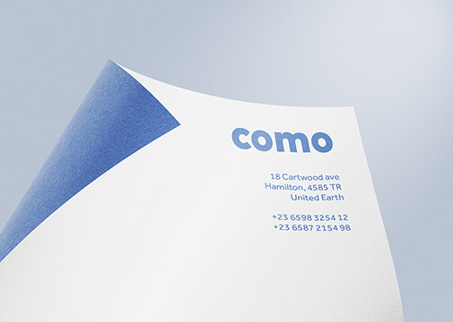Free Como Stationery Mockup Set PSD Template1