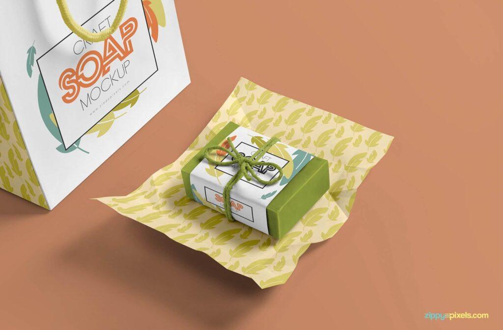 Free Craft Soap Bar Mockup PSD Template2