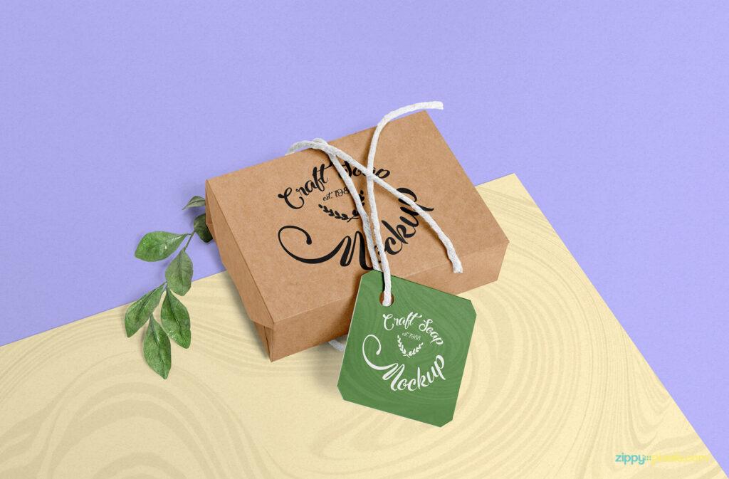 Free Craft Soap Box Mockup PSD Template