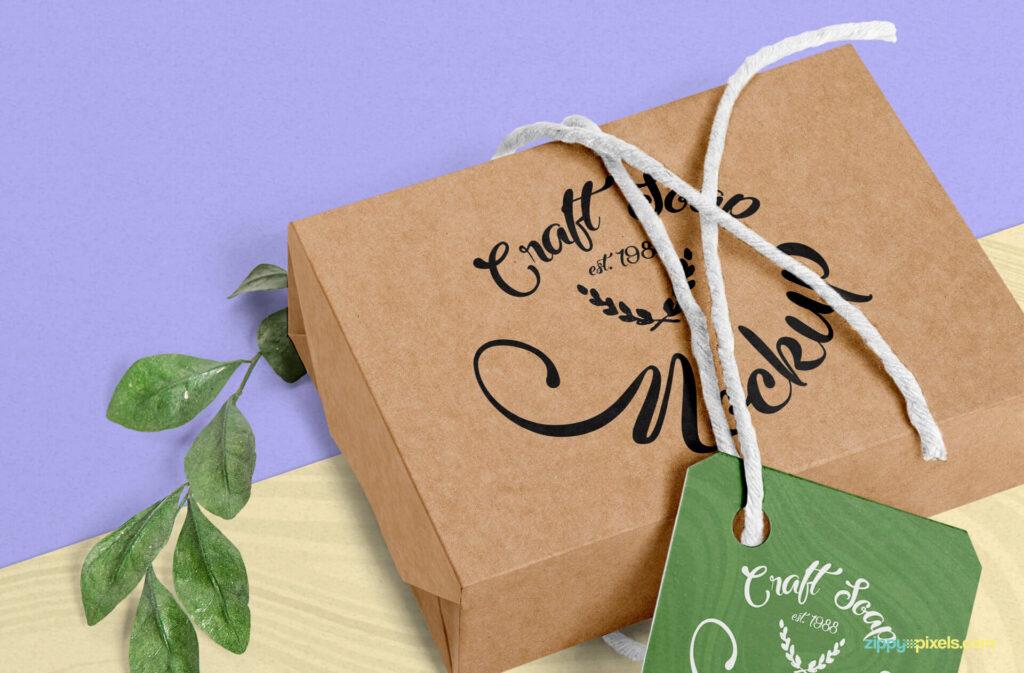 Free Craft Soap Box Mockup PSD Template2