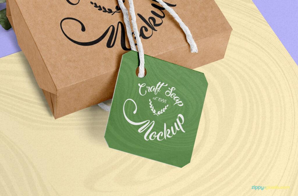 Free Craft Soap Box Mockup PSD Template3