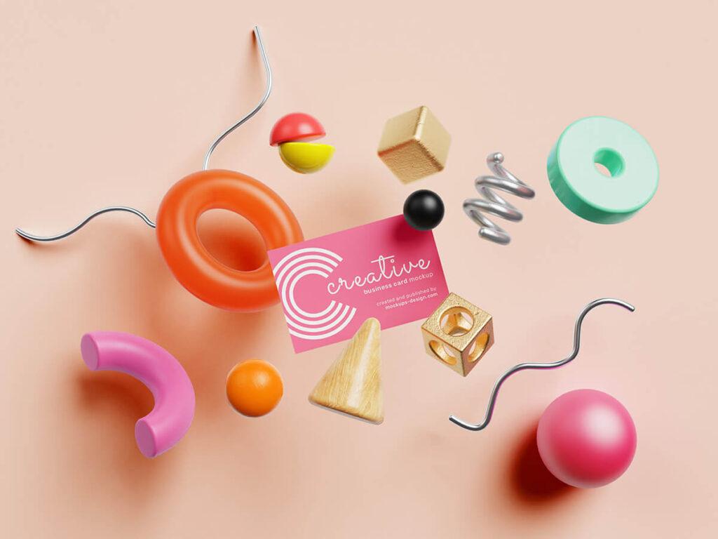Free Creative Business Card Mockup PSD Template1