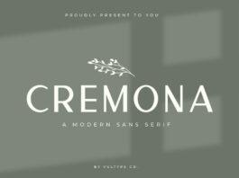 Free Cremona Minimal Sans Serif Font