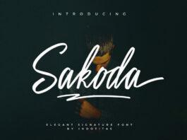 Free Cursive Sakoda Signature Script Font
