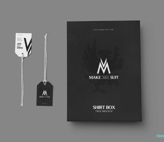 Free Customizable Product Packaging Mockup PSD Template