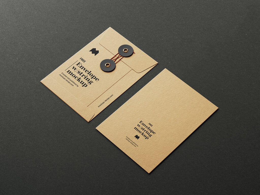 Free Envelope With String Mockup PSD Template4