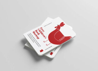Free Flat Childrens Book Mockup PSD Template