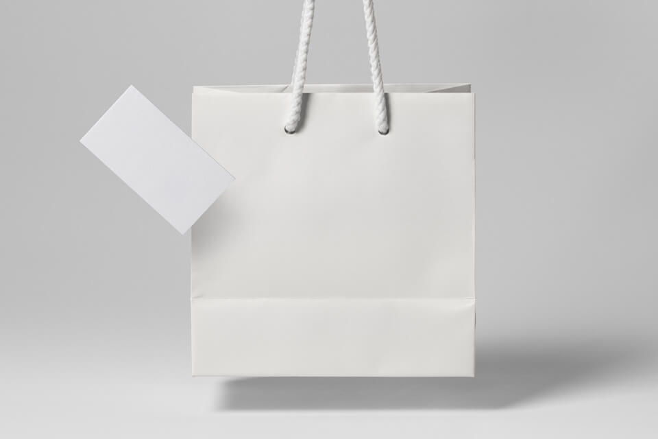 Free Front Viewed Gravity Shopping Bag Mockup PSD Template4