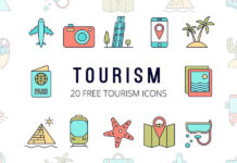 Free Global Tourism Vector Icon Set