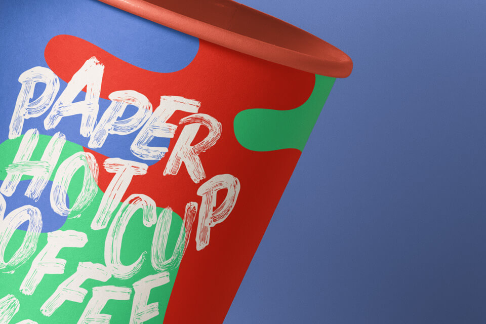 Free Gravity Paper Hot Cup Mockup PSD Template2
