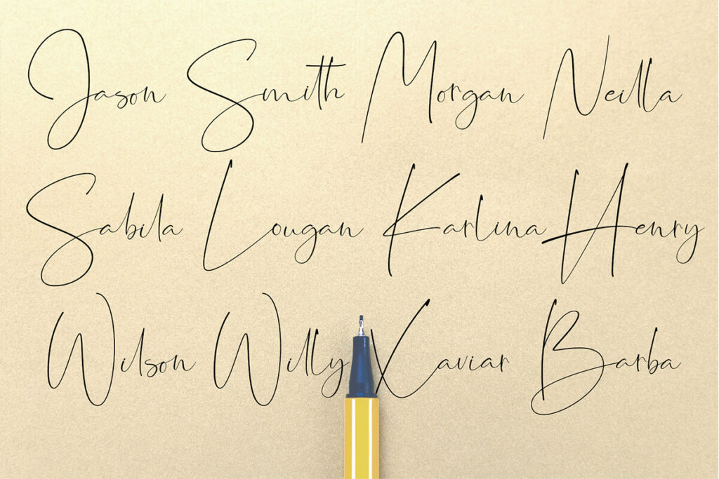 Free Hand Lettering Jasmine Signature Font1