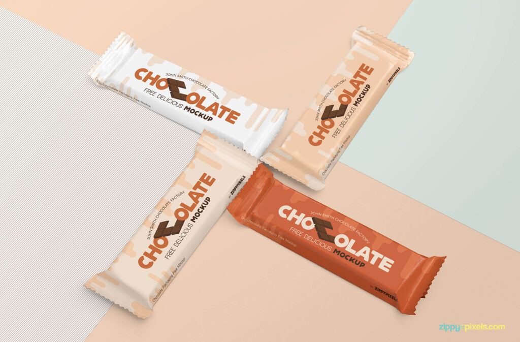 Free Luscious Chocolate Packaging Mockup PSD Template