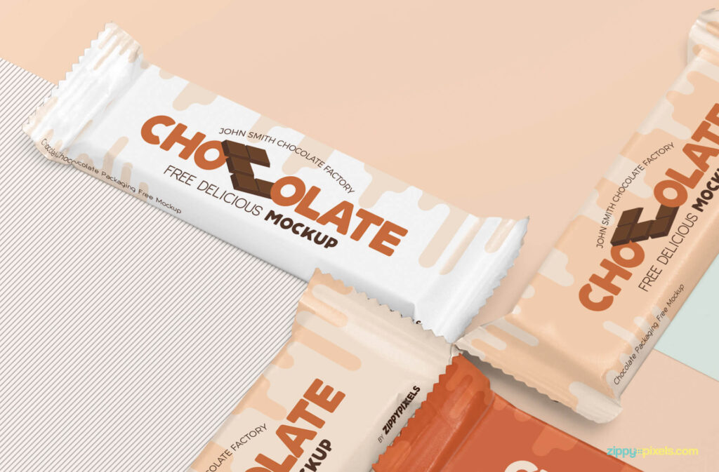 Free Luscious Chocolate Packaging Mockup PSD Template3