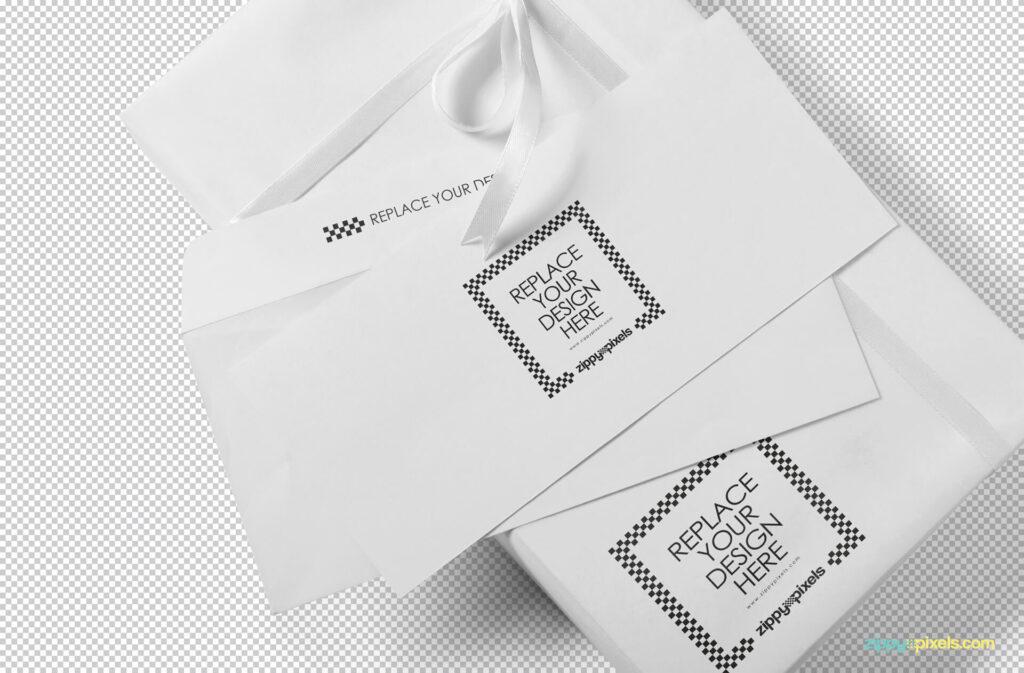 Free Luxury Envelope Mock Up PSD Template