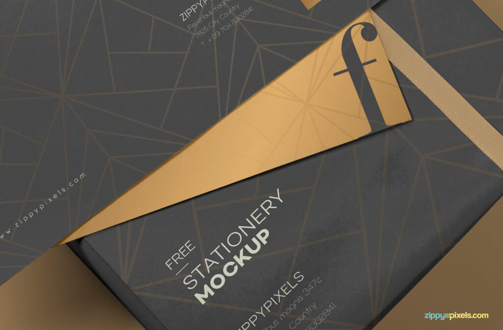 Free Luxury Envelope Mock Up PSD Template3