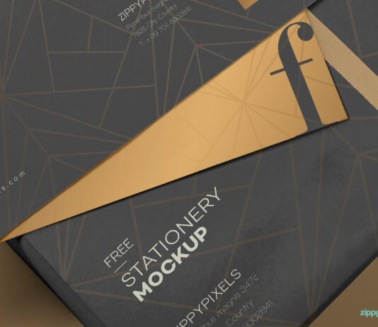 Free Luxury Envelope Mock Up PSD Template3
