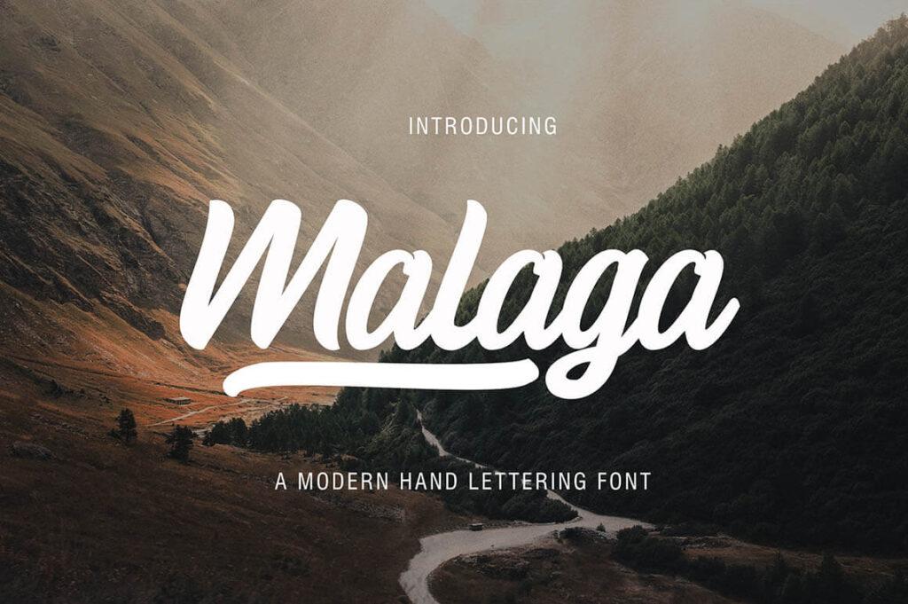 Free Malaga Modern Script Typeface