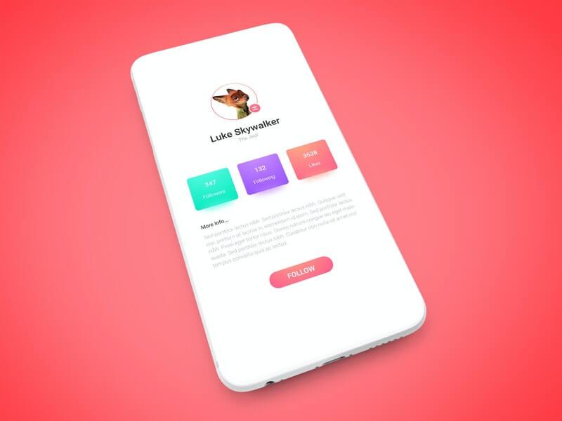 Free Minimalistic White App Screen Mockup PSD Template