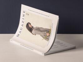 Free Modern Cover Magazine Mockup Presentation PSD Template