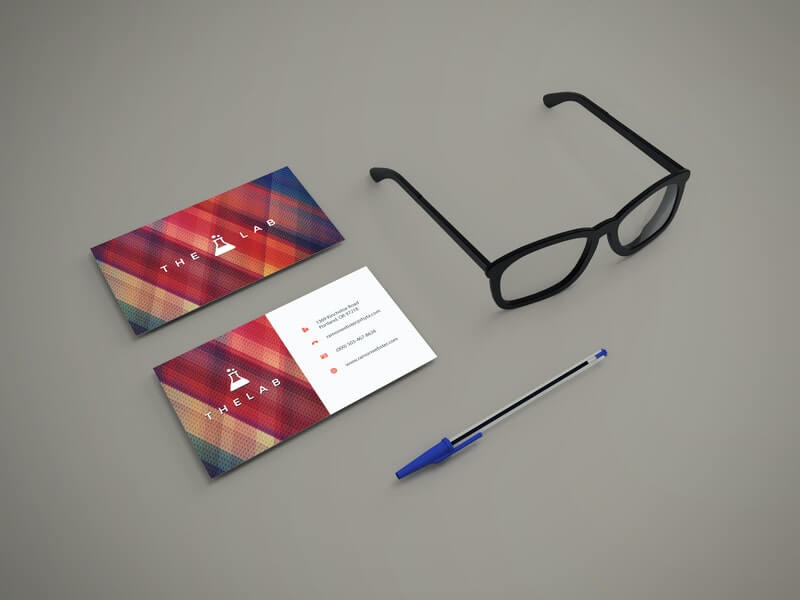 Free Modern Styled Business Cards Mockup PSD Template