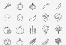 Free Nutritious 20+ Vegetable Vector Icons