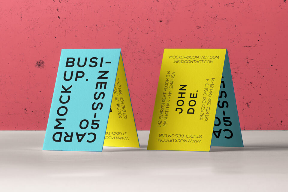 Free Original Business Card Branding Mockup PSD Template