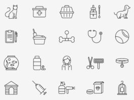 Free Pet Care 20+ Veterinary Vector Icons