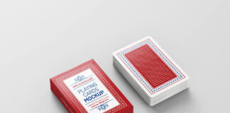 Free Playing Cards Mockup PSD Template