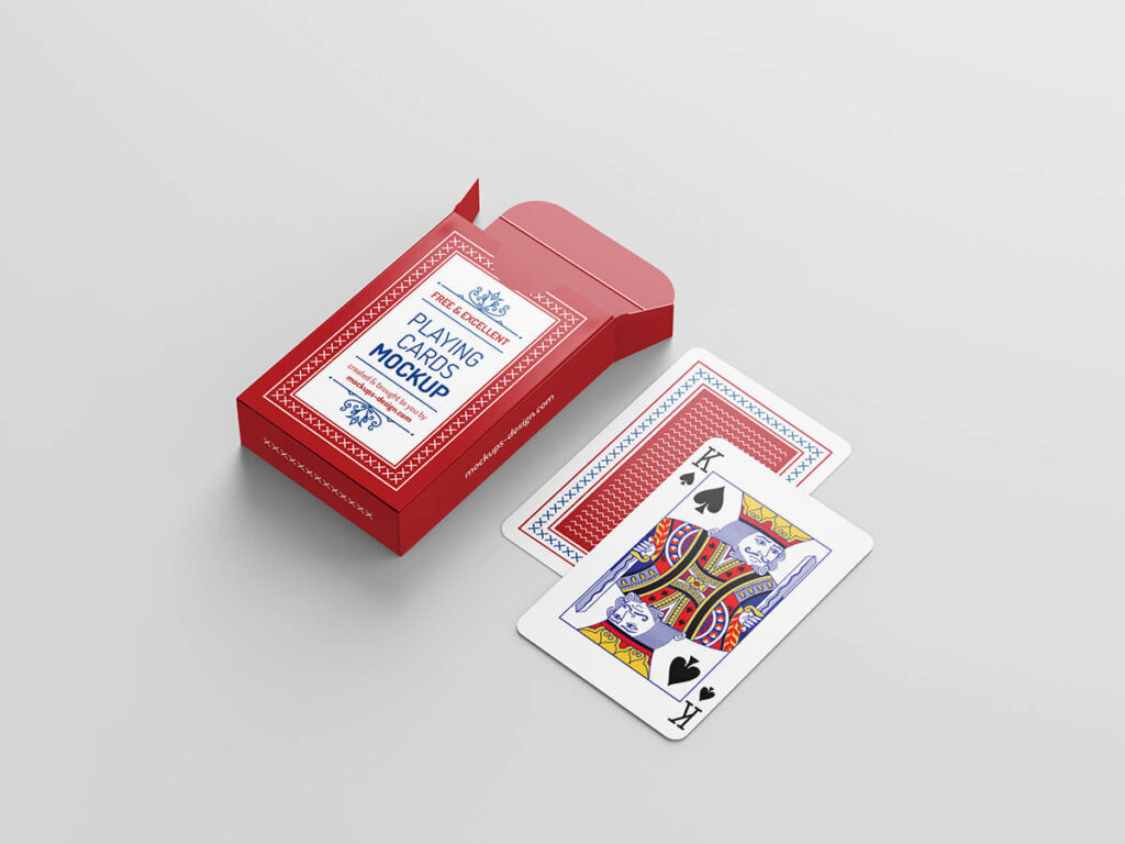 Free Playing Cards Mockup PSD Template1