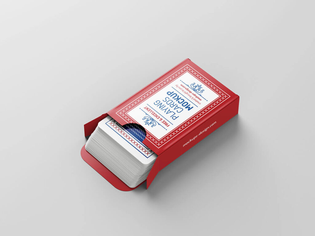 Free Playing Cards Mockup PSD Template3