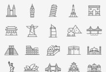 Free Prominent 20 Landmark Vector Icons