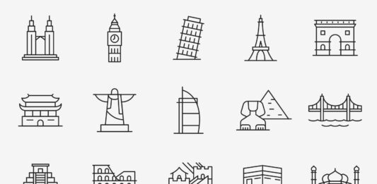 Free Prominent 20 Landmark Vector Icons