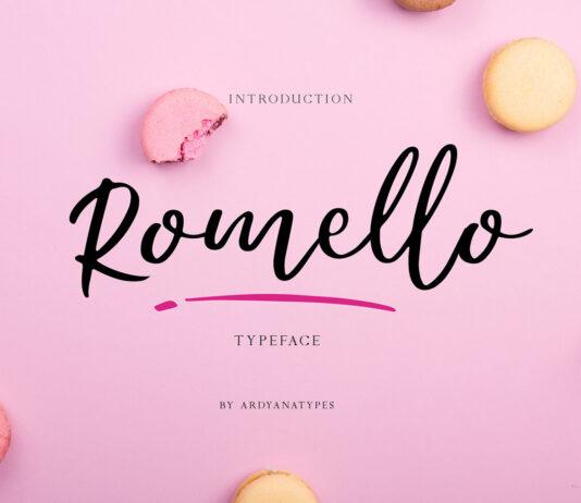 Free Romello Typeface Script Font