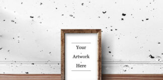 Free Rustic Wood Frame Mockups PSD Template