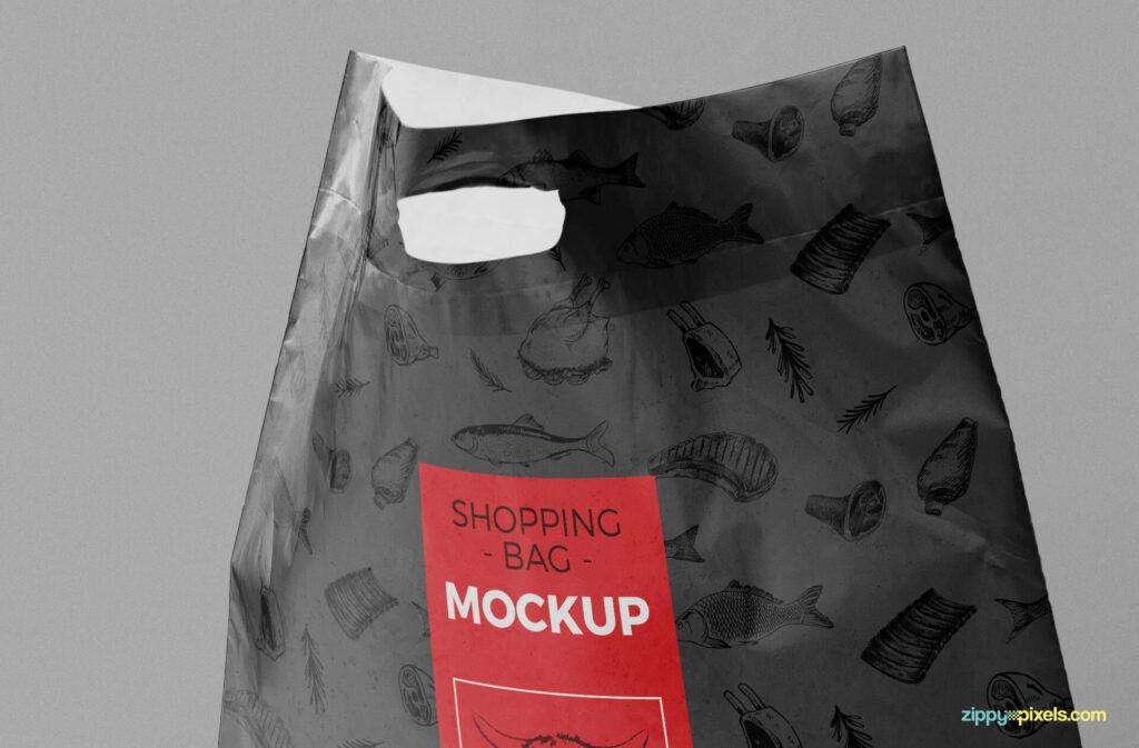Free Standing Plastic Bag Mockup PSD Template4