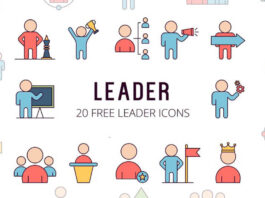 Free Themed Leader Vector Icon Set