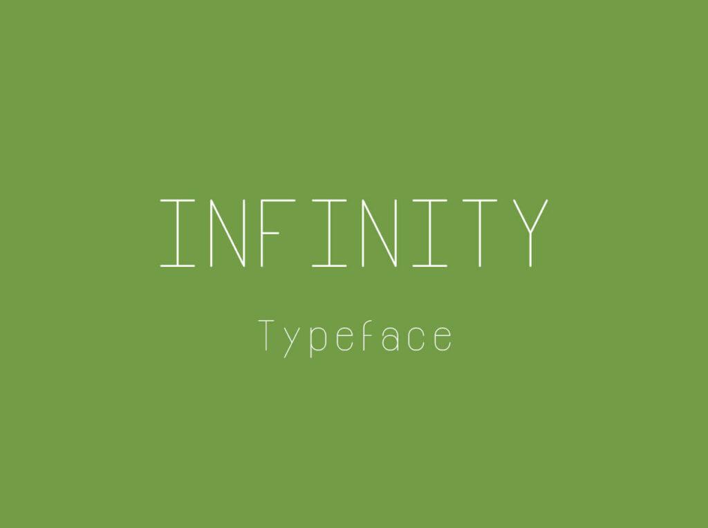 Free Thin Infinity Font