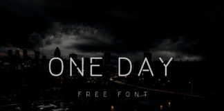 Free Thin One Day Font